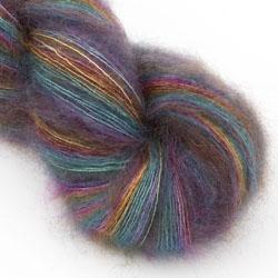 Moonbroch Rainbows – Hand dyed Kid Mohair and Silk