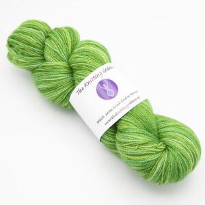 Green colourway 4ply BFL nylon skein of yarn