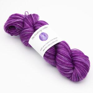 Wisteria colourway 4ply BFL nylon skein of yarn