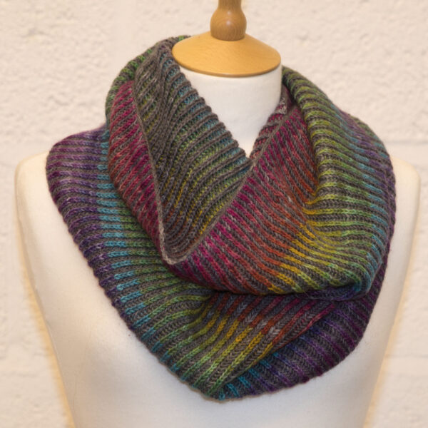 after the rain cowl from knit the rainbow