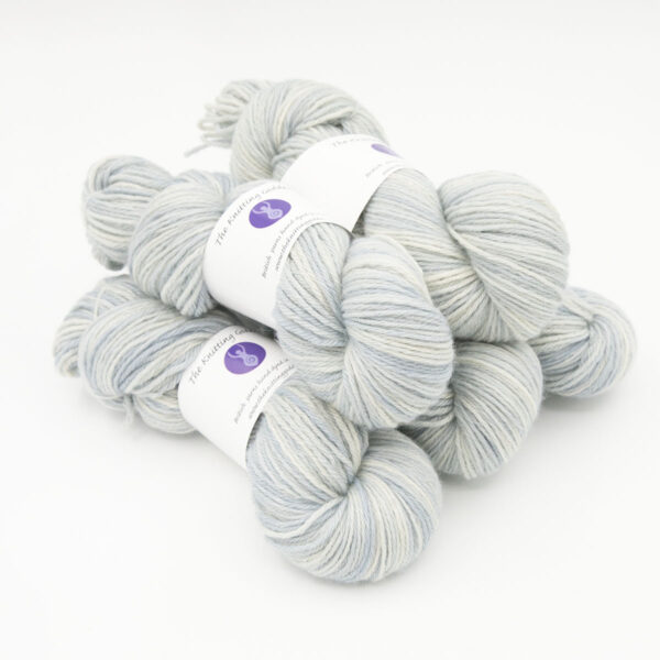 Frost hand dyed skeins of DK Blue Faced Leicester wool