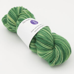 Hellebore hand dyed skeins of DK Whitefaced Woodland wool