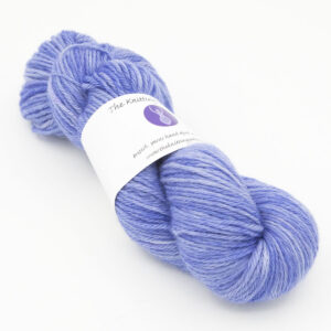 Hyacinth hand dyed skeins of DK Blue Faced Leicester wool