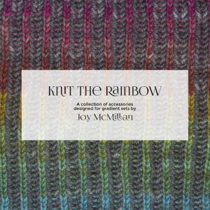 Knit The Rainbow pattern booklet cover