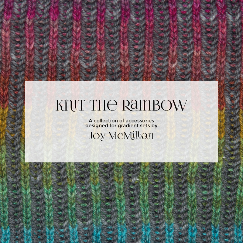 Cover of Knit the Rainbow pattern book