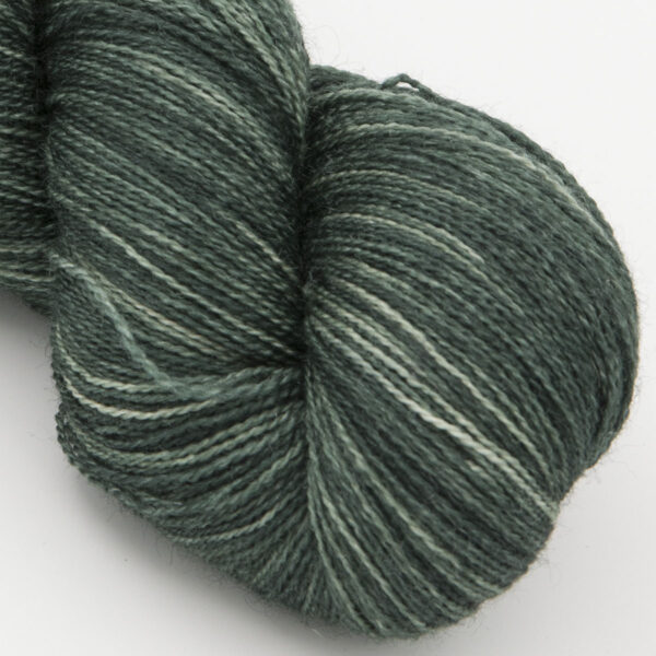 Shaded Hellebore moonbow laceweight bfl silk yarn