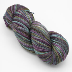 Shadiest Rainbow hand dyed skeins of DK Blue Faced Leicester wool