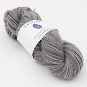 Silver hand dyed skeins of DK Whitefaced Woodland wool