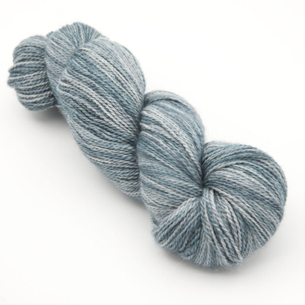 bfl silk alpaca yarn slate