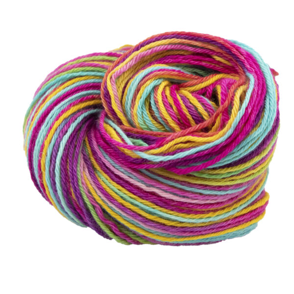 Ultimate Rainbow hand dyed skeins of DK Blue Faced Leicester wool