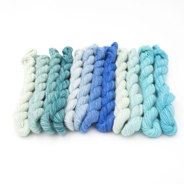 Watercolour Britsock mini skeins of yarn