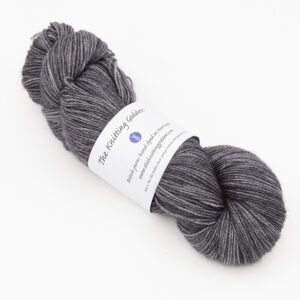 BFL Nylon Charcoal sock yarn from indie dyer The Knitting Goddess