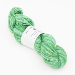 BFL Nylon Emerald sock yarn from indie dyer The Knitting Goddess