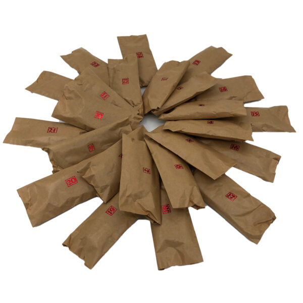 24 mini skeins wrapped in brown paper for advent calendar