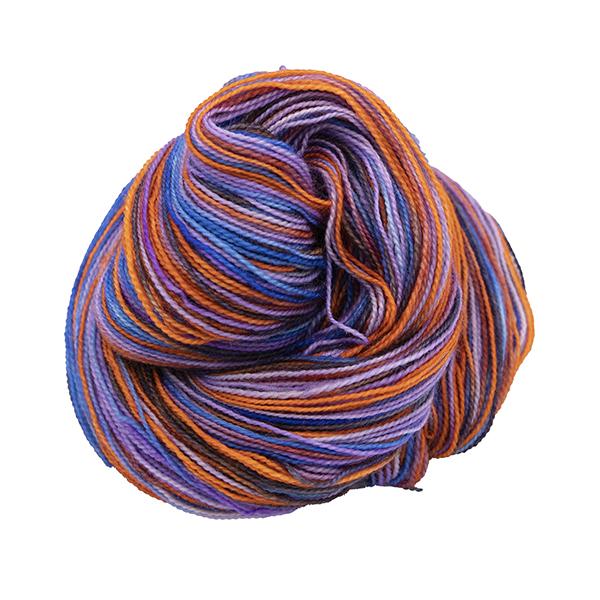 bird of paradise hand dyed bfl nylon sock yarn british wool indie dyed
