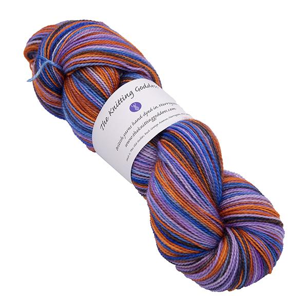 bird of paradise hand dyed bfl nylon sock yarn british wool indie dyer uk