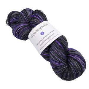 midnight skein of sock yarn