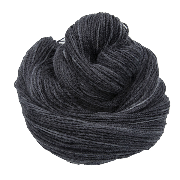 Skein of hand dyed britsock yarn - coal