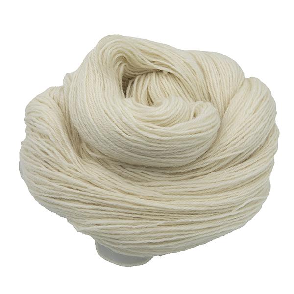 Skeins of hand dyed britsock yarn - cream