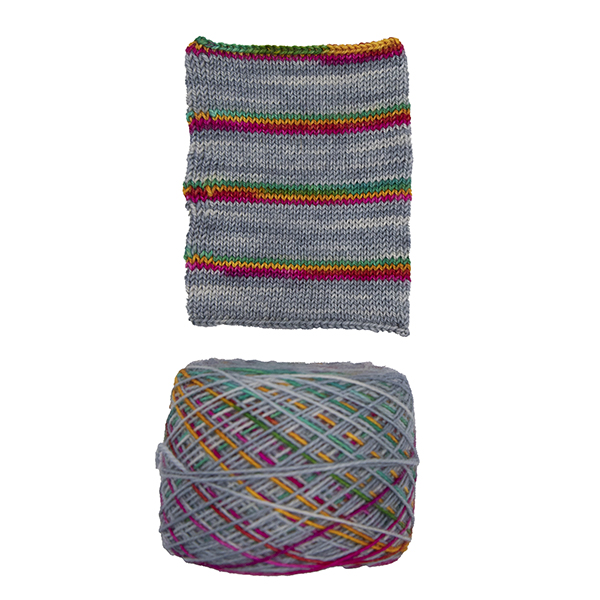 printer ink and superhero genes self striping sock yarn british bfl nylon hand dyed in yorkshire uk