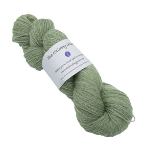 Skein of hand dyed britsock yarn - silver hellebore