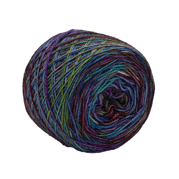 silver rainbow self striping sock yarn british bfl nylon hand dyed in yorkshire gb
