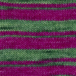 jelly bean yarn,bright pink and lime green Sample showing how it knits up.